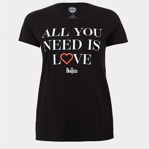 Torrid 1X 3X T-Shirt Beatles All You Need Is Love